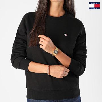 https://laboutiqueofficielle-res.cloudinary.com/image/upload/v1627651009/Desc/Watermark/3logo_tommy_jeans.svg Tommy Jeans - Sweat Crewneck Femme Regular Fleece 9227 Noir