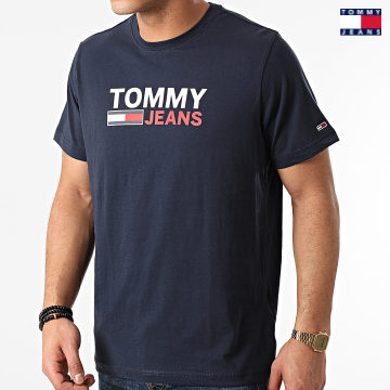 https://laboutiqueofficielle-res.cloudinary.com/image/upload/v1627651009/Desc/Watermark/3logo_tommy_jeans.svg Tommy Jeans - Tee Shirt Corp Logo 0214 Bleu Marine