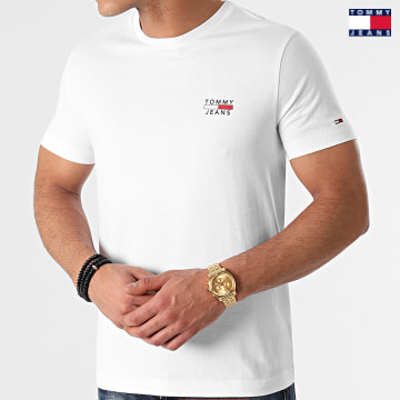 https://laboutiqueofficielle-res.cloudinary.com/image/upload/v1627651009/Desc/Watermark/3logo_tommy_jeans.svg Tommy Jeans - Tee Shirt Chest Logo 0099 Blanc