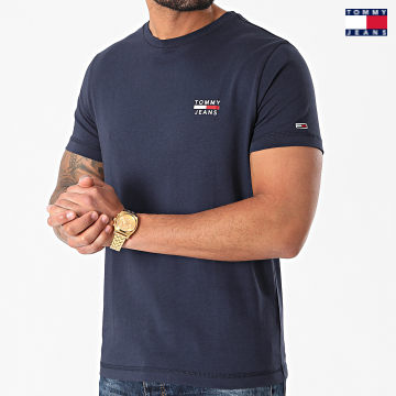 https://laboutiqueofficielle-res.cloudinary.com/image/upload/v1627651009/Desc/Watermark/3logo_tommy_jeans.svg Tommy Jeans - Tee Shirt Chest Logo 0099 Bleu Marine