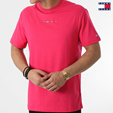 https://laboutiqueofficielle-res.cloudinary.com/image/upload/v1627651009/Desc/Watermark/3logo_tommy_jeans.svg Tommy Jeans - Tee Shirt Gel Linear Logo 0702 Rose Fuchsia