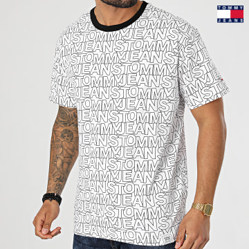 https://laboutiqueofficielle-res.cloudinary.com/image/upload/v1627651009/Desc/Watermark/3logo_tommy_jeans.svg Tommy Jeans - Tee Shirt AOP 0272 Blanc Noir
