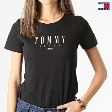https://laboutiqueofficielle-res.cloudinary.com/image/upload/v1627651009/Desc/Watermark/3logo_tommy_jeans.svg Tommy Jeans - Tee Shirt Femme Essential Skinny 9926 Noir