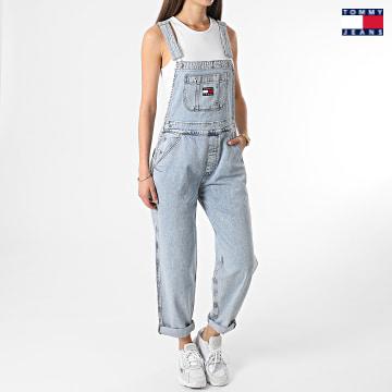 https://laboutiqueofficielle-res.cloudinary.com/image/upload/v1627651009/Desc/Watermark/3logo_tommy_jeans.svg Tommy Jeans - Salopette Femme Dungaree 9899 Bleu Denim