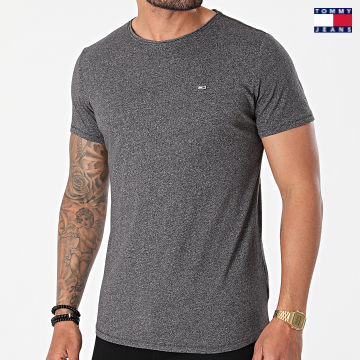 https://laboutiqueofficielle-res.cloudinary.com/image/upload/v1627651009/Desc/Watermark/3logo_tommy_jeans.svg Tommy Jeans - Tee Shirt Oversize Slim Jaspe 9586 Gris Anthracite Chiné