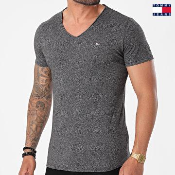 https://laboutiqueofficielle-res.cloudinary.com/image/upload/v1627651009/Desc/Watermark/3logo_tommy_jeans.svg Tommy Jeans - Tee Shirt Oversize Col V Slim Jaspe 9587 Gris Anthracite Chiné