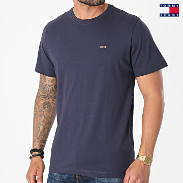https://laboutiqueofficielle-res.cloudinary.com/image/upload/v1627651009/Desc/Watermark/3logo_tommy_jeans.svg Tommy Jeans - Tee Shirt Classic Jersey 9598 Bleu Marine