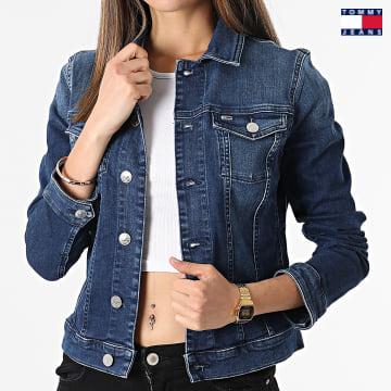 https://laboutiqueofficielle-res.cloudinary.com/image/upload/v1627651009/Desc/Watermark/3logo_tommy_jeans.svg Tommy Jeans - Veste Jean Femme Vivianne 9219 Bleu Denim