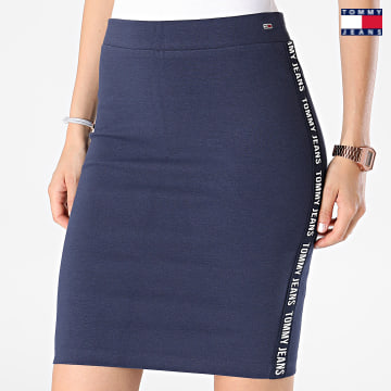 https://laboutiqueofficielle-res.cloudinary.com/image/upload/v1627651009/Desc/Watermark/3logo_tommy_jeans.svg Tommy Jeans - Jupe Femme Bodycon 0573 Bleu Marine
