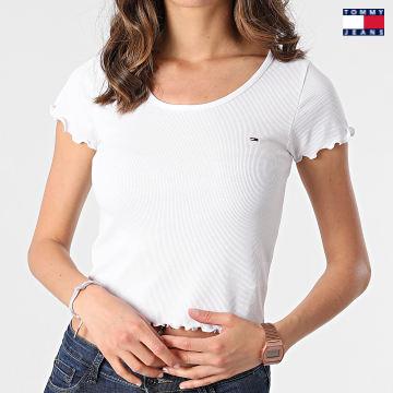 https://laboutiqueofficielle-res.cloudinary.com/image/upload/v1627651009/Desc/Watermark/3logo_tommy_jeans.svg Tommy Jeans - Top Skinny Femme Babylock 9673 Blanc