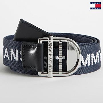 https://laboutiqueofficielle-res.cloudinary.com/image/upload/v1627651009/Desc/Watermark/3logo_tommy_jeans.svg Tommy Jeans - Ceinture Femme Essential Webbing 0175 Bleu Marine