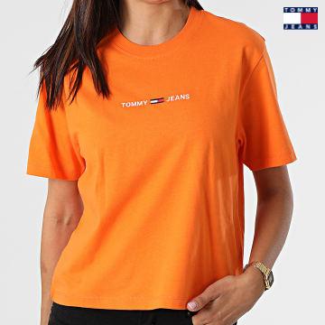 https://laboutiqueofficielle-res.cloudinary.com/image/upload/v1627651009/Desc/Watermark/3logo_tommy_jeans.svg Tommy Jeans - Tee Shirt Crop Femme BXY Linear 0057 Orange