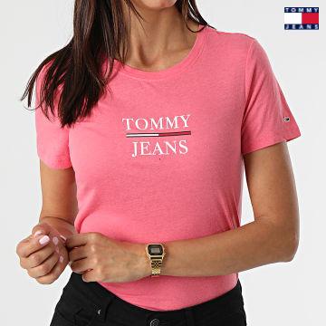 https://laboutiqueofficielle-res.cloudinary.com/image/upload/v1627651009/Desc/Watermark/3logo_tommy_jeans.svg Tommy Jeans - Tee Shirt Skinny Femme Essential Tommy 0411 Rose