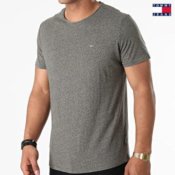 https://laboutiqueofficielle-res.cloudinary.com/image/upload/v1627651009/Desc/Watermark/3logo_tommy_jeans.svg Tommy Jeans - Tee Shirt Oversize Slim Jaspe 9586 Vert Kaki Chiné