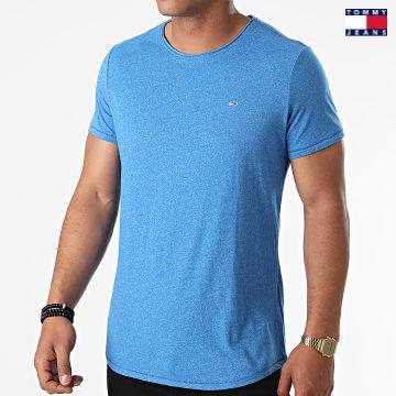 https://laboutiqueofficielle-res.cloudinary.com/image/upload/v1627651009/Desc/Watermark/3logo_tommy_jeans.svg Tommy Jeans - Tee Shirt Oversize Slim Jaspe 9586 Bleu Chiné