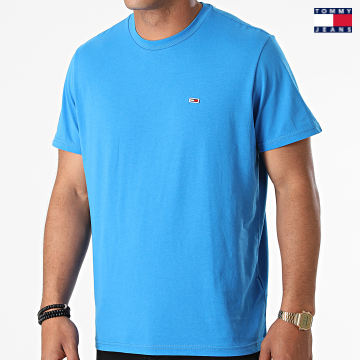 https://laboutiqueofficielle-res.cloudinary.com/image/upload/v1627651009/Desc/Watermark/3logo_tommy_jeans.svg Tommy Jeans - Tee Shirt Classic Jersey 9598 Bleu Azur