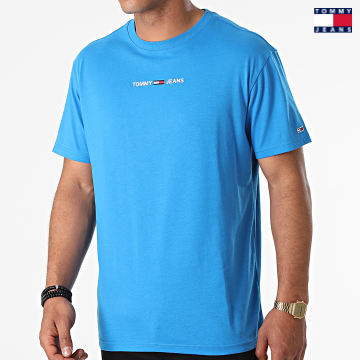https://laboutiqueofficielle-res.cloudinary.com/image/upload/v1627651009/Desc/Watermark/3logo_tommy_jeans.svg Tommy Jeans - Tee Shirt Small Text 9701 Bleu Clair