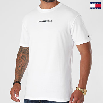 https://laboutiqueofficielle-res.cloudinary.com/image/upload/v1627651009/Desc/Watermark/3logo_tommy_jeans.svg Tommy Jeans - Tee Shirt Small Text 9701 Blanc
