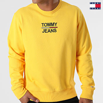 https://laboutiqueofficielle-res.cloudinary.com/image/upload/v1627651009/Desc/Watermark/3logo_tommy_jeans.svg Tommy Jeans - Sweat Crewneck TJM Essential 0910 Jaune