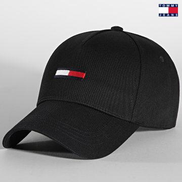 https://laboutiqueofficielle-res.cloudinary.com/image/upload/v1627651009/Desc/Watermark/3logo_tommy_jeans.svg Tommy Jeans - Casquette Flag Cap 7170 Noir