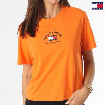 https://laboutiqueofficielle-res.cloudinary.com/image/upload/v1627651009/Desc/Watermark/3logo_tommy_jeans.svg Tommy Jeans - Tee Shirt Femme Crop Timeless Tommy 0417 Orange