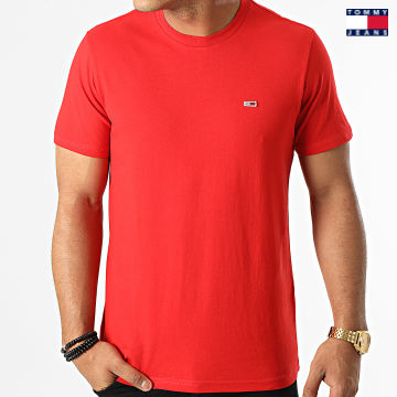 https://laboutiqueofficielle-res.cloudinary.com/image/upload/v1627651009/Desc/Watermark/3logo_tommy_jeans.svg Tommy Jeans - Tee Shirt Classic Jersey 9598 Rouge