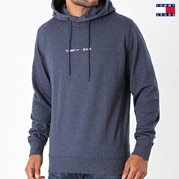 https://laboutiqueofficielle-res.cloudinary.com/image/upload/v1627651009/Desc/Watermark/3logo_tommy_jeans.svg Tommy Jeans - Sweat Capuche Straight Logo 1818 Bleu Marine Chiné