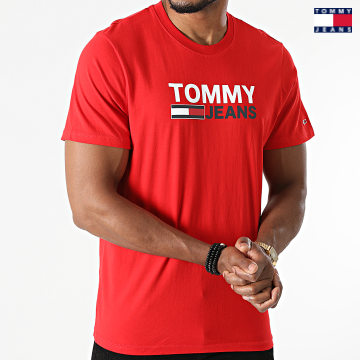 https://laboutiqueofficielle-res.cloudinary.com/image/upload/v1627651009/Desc/Watermark/3logo_tommy_jeans.svg Tommy Jeans - Tee Shirt Corp Logo 0103 Rouge