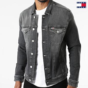 https://laboutiqueofficielle-res.cloudinary.com/image/upload/v1627651009/Desc/Watermark/3logo_tommy_jeans.svg Tommy Jeans - Veste Jean Regular Trucker 0839 Gris Anthracite