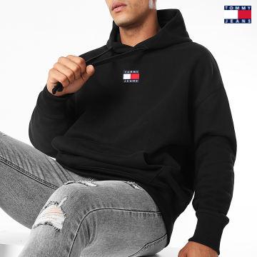https://laboutiqueofficielle-res.cloudinary.com/image/upload/v1627651009/Desc/Watermark/3logo_tommy_jeans.svg Tommy Jeans - Sweat Capuche Signature 2191 Noir