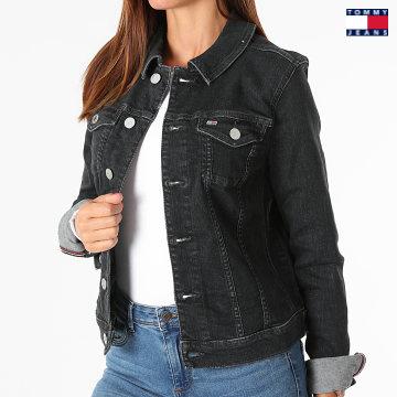 https://laboutiqueofficielle-res.cloudinary.com/image/upload/v1627651009/Desc/Watermark/3logo_tommy_jeans.svg Tommy Jeans - Veste Jean Femme Vivianne 0470 Noir
