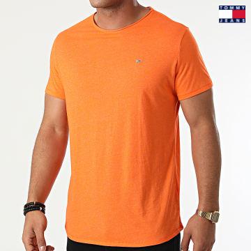 https://laboutiqueofficielle-res.cloudinary.com/image/upload/v1627651009/Desc/Watermark/3logo_tommy_jeans.svg Tommy Jeans - Tee Shirt Oversize Slim Jaspe 9586 Orange Chiné