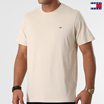 https://laboutiqueofficielle-res.cloudinary.com/image/upload/v1627651009/Desc/Watermark/3logo_tommy_jeans.svg Tommy Jeans - Tee Shirt Classic Jersey 9598 Beige