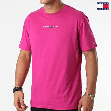 https://laboutiqueofficielle-res.cloudinary.com/image/upload/v1627651009/Desc/Watermark/3logo_tommy_jeans.svg Tommy Jeans - Tee Shirt Tommy Badge 9701 Rose Fushia