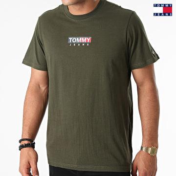 https://laboutiqueofficielle-res.cloudinary.com/image/upload/v1627651009/Desc/Watermark/3logo_tommy_jeans.svg Tommy Jeans - Tee Shirt Entry Print 1601 Vert Kaki