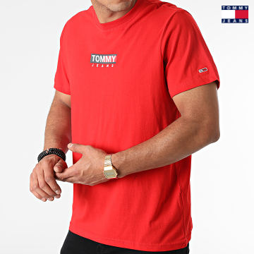 https://laboutiqueofficielle-res.cloudinary.com/image/upload/v1627651009/Desc/Watermark/3logo_tommy_jeans.svg Tommy Jeans - Tee Shirt Entry Print 1601 Rouge