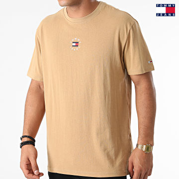 https://laboutiqueofficielle-res.cloudinary.com/image/upload/v1627651009/Desc/Watermark/3logo_tommy_jeans.svg Tommy Jeans - Tee Shirt Tiny Circular 1602 Beige
