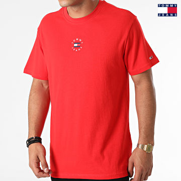 https://laboutiqueofficielle-res.cloudinary.com/image/upload/v1627651009/Desc/Watermark/3logo_tommy_jeans.svg Tommy Jeans - Tee Shirt Tiny Circular 1602 Rouge