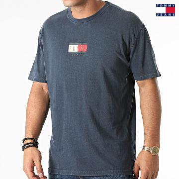 https://laboutiqueofficielle-res.cloudinary.com/image/upload/v1627651009/Desc/Watermark/3logo_tommy_jeans.svg Tommy Jeans - Tee Shirt Vintage Flag Print 1610 Bleu Marine