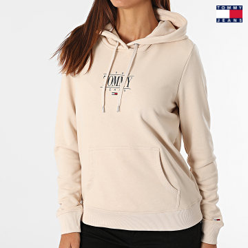 https://laboutiqueofficielle-res.cloudinary.com/image/upload/v1627651009/Desc/Watermark/3logo_tommy_jeans.svg Tommy Jeans - Sweat Capuche Femme Regular Essential Logo 1049 Beige