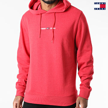 https://laboutiqueofficielle-res.cloudinary.com/image/upload/v1627651009/Desc/Watermark/3logo_tommy_jeans.svg Tommy Jeans - Sweat Capuche Straight Logo 1632 Rouge