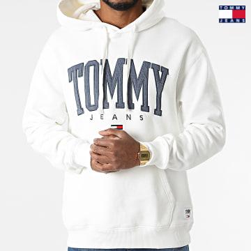 https://laboutiqueofficielle-res.cloudinary.com/image/upload/v1627651009/Desc/Watermark/3logo_tommy_jeans.svg Tommy Jeans - Sweat Capuche Collegiate 2543 Ecru