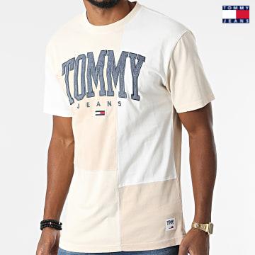 https://laboutiqueofficielle-res.cloudinary.com/image/upload/v1627651009/Desc/Watermark/3logo_tommy_jeans.svg Tommy Jeans - Tee Shirt Collegiate Cut Sew 2549 Ecru Beige