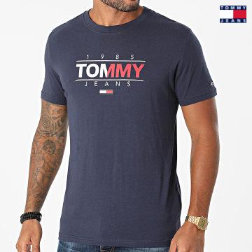 https://laboutiqueofficielle-res.cloudinary.com/image/upload/v1627651009/Desc/Watermark/3logo_tommy_jeans.svg Tommy Jeans - Tee Shirt  Essential Graphic 1600 Bleu Marine