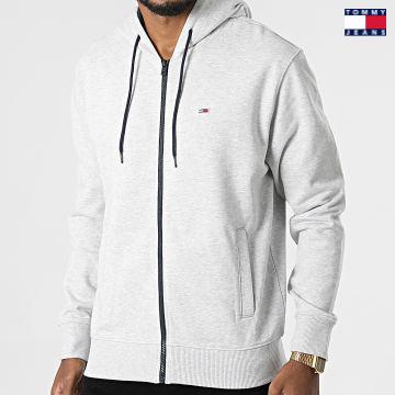 https://laboutiqueofficielle-res.cloudinary.com/image/upload/v1627651009/Desc/Watermark/3logo_tommy_jeans.svg Tommy Jeans - Sweat Zippé Capuche Essential Graphic 1629 Gris Chiné
