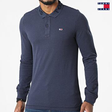 https://laboutiqueofficielle-res.cloudinary.com/image/upload/v1627651009/Desc/Watermark/3logo_tommy_jeans.svg Tommy Jeans - Polo Manches Longues Tonal Logo 1336 Bleu Marine