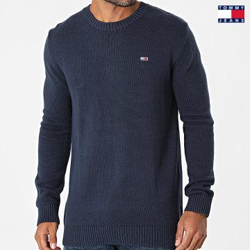 https://laboutiqueofficielle-res.cloudinary.com/image/upload/v1627651009/Desc/Watermark/3logo_tommy_jeans.svg Tommy Jeans - Pull Slub Grinder 1856 Bleu Marine