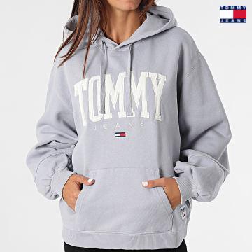 https://laboutiqueofficielle-res.cloudinary.com/image/upload/v1627651009/Desc/Watermark/3logo_tommy_jeans.svg Tommy Jeans - Sweat Capuche Femme Collegiate 2102 Lavande