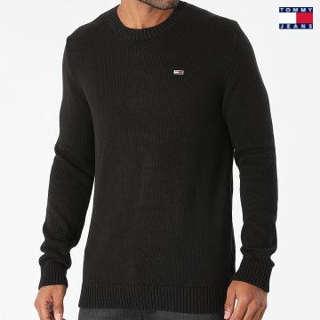 https://laboutiqueofficielle-res.cloudinary.com/image/upload/v1627651009/Desc/Watermark/3logo_tommy_jeans.svg Tommy Jeans - Pull Essential Crew Neck 1856 Noir