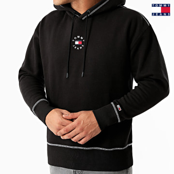 https://laboutiqueofficielle-res.cloudinary.com/image/upload/v1627651009/Desc/Watermark/3logo_tommy_jeans.svg Tommy Jeans - Sweat Capuche Tiny Tommy Circular 1723 Noir